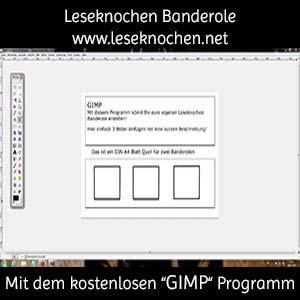 Banderole mit GIMP erstellen