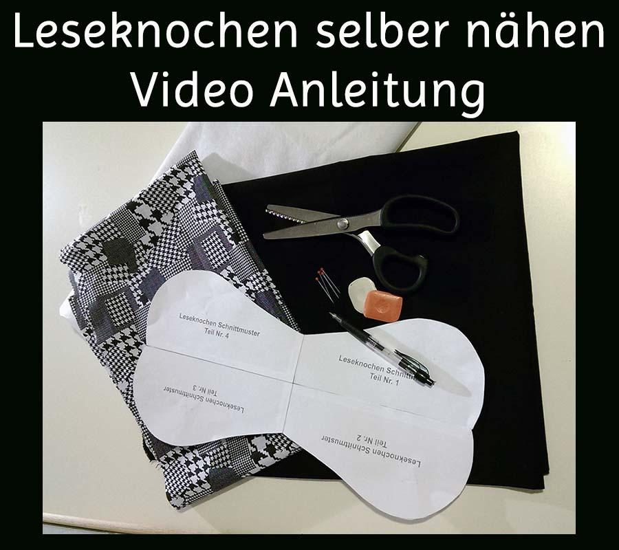Leseknochen selber näehen Video Anleitung