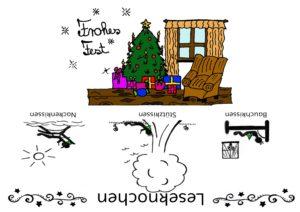 Leseknochen Banderole Weihnachten
