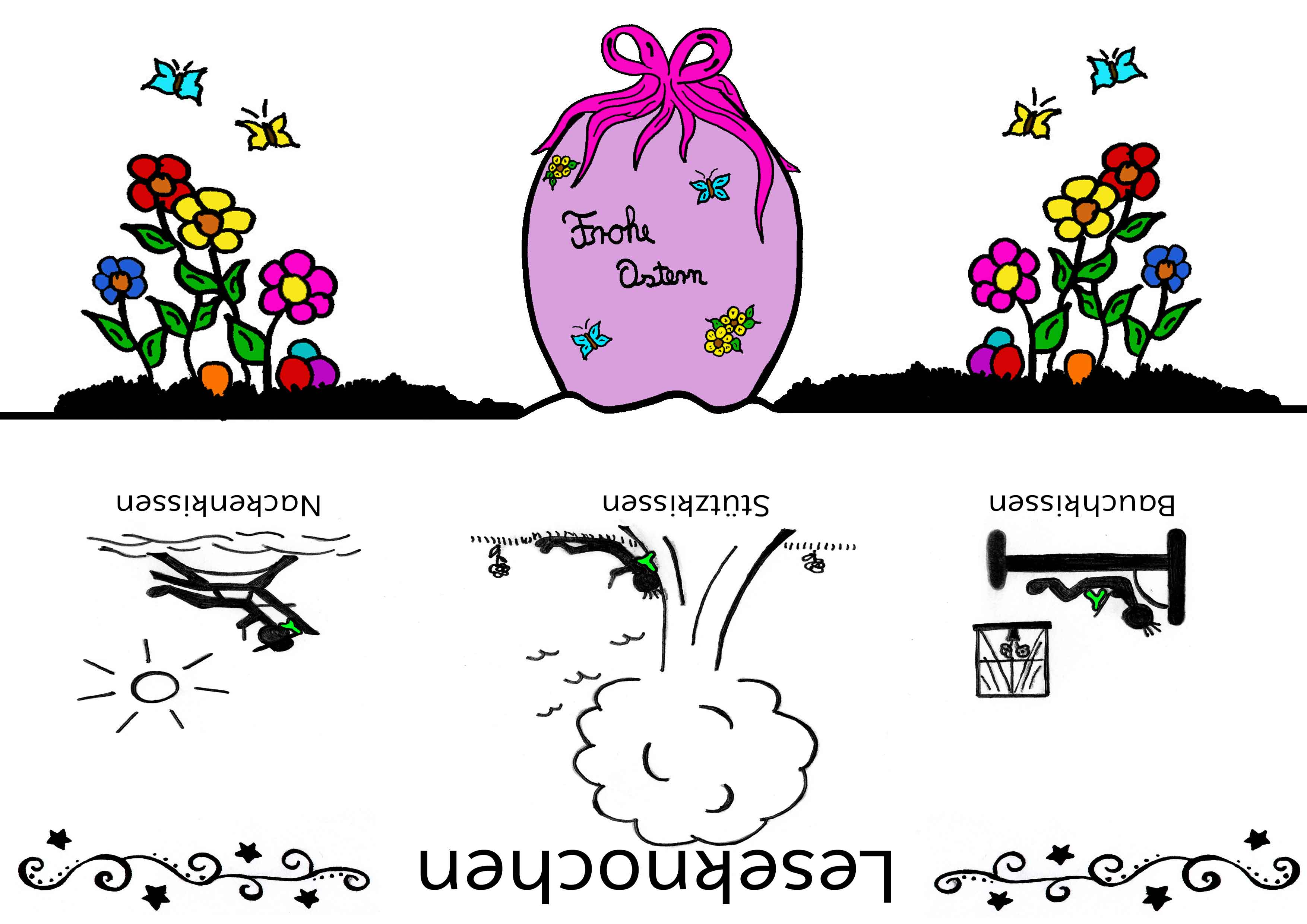 Leseknochen Banderole Frohe Ostern
