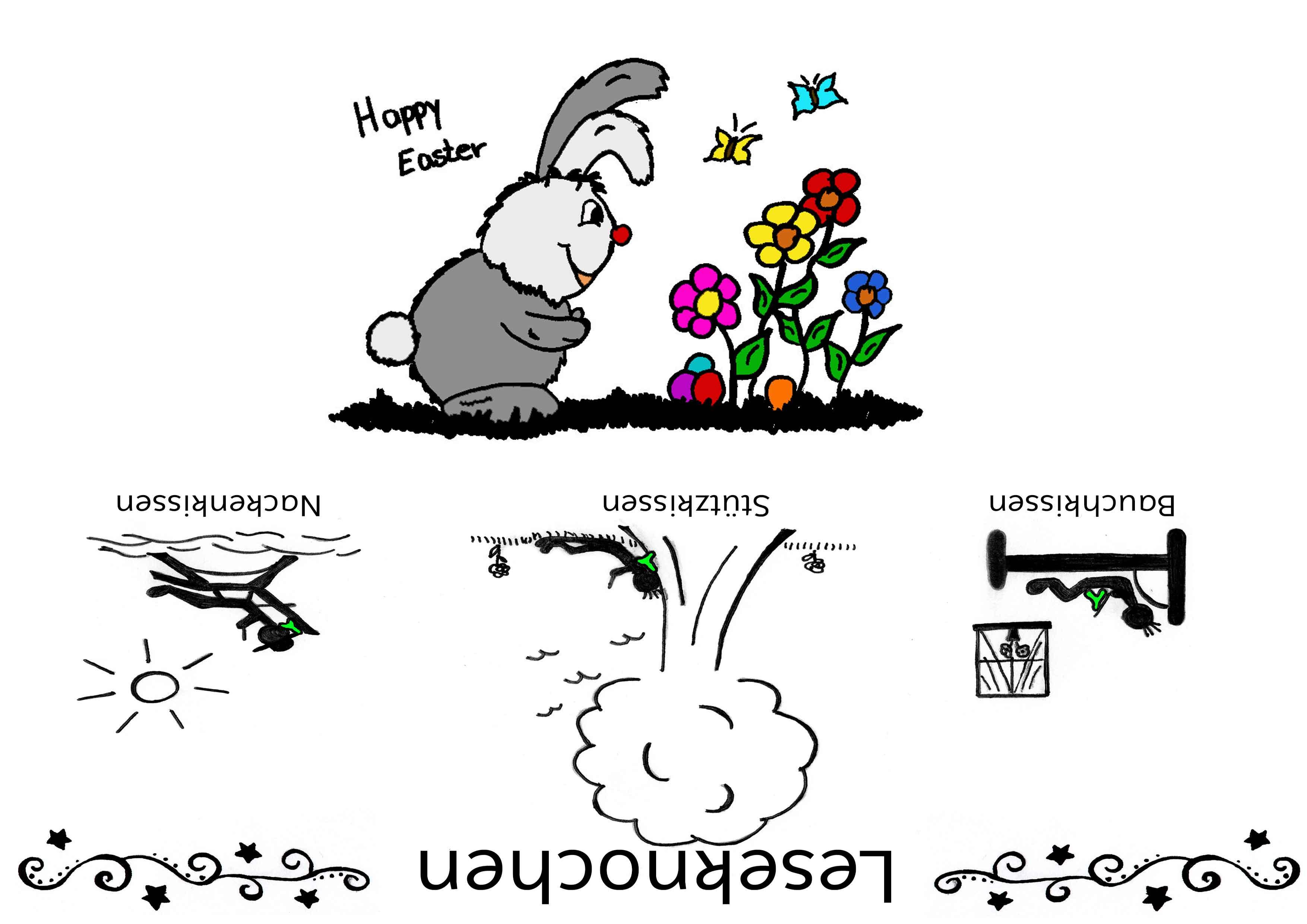 Lesekochen Banderole - Happy Easter
