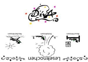 Leseknochen Banderole Diva