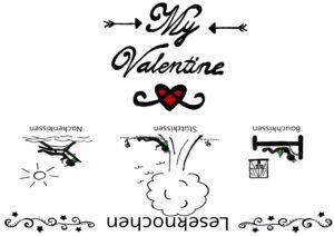Leseknochen Banderole My Valentine