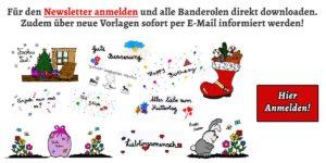 Newsletter Banderolen Anmeldung